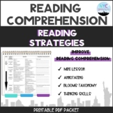 Reading Strategies Packet: Annotating and Blooms Taxonomy