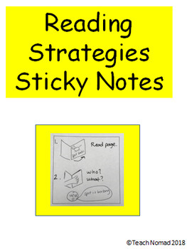 Reading Strategies Post-It Notes