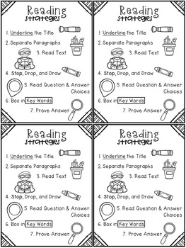 Reading Strategies Poster
