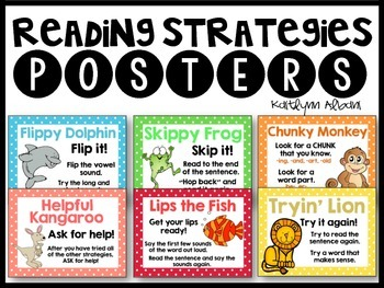 Reading Strategies Posters + Student Reminder Flip Books