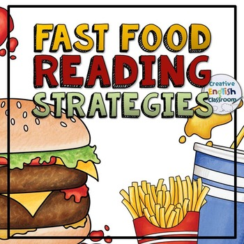 Reading Strategies Posters with Fast Food Theme