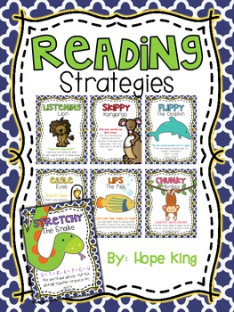 Reading Strategies {Posters} by Hope King | Teachers Pay Teachers