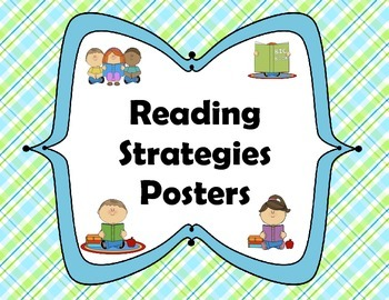 Reading Strategies Posters Plaid