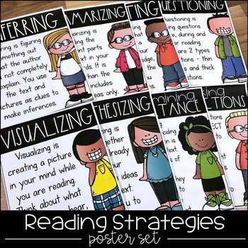 Reading Strategies Posters - Anchor Charts