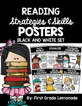 Reading Strategies Posters {BLACK AND WHITE}