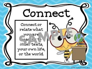 Reading Strategies Posters (Bee Theme)- UK Version