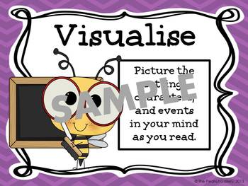 Reading Strategies Posters (Bee Theme)- UK Version