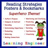 2nd Grade Reading Comprehension Posters Superhero Theme Classroom