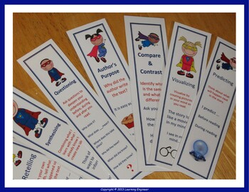 Reading Strategies Posters and Reading Strategies Bookmarks