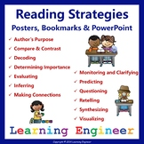 2nd Grade Literacy Center Reading Comprehension Posters and Bookmarks