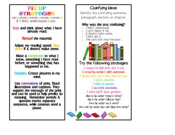 Reading Strategies Posters & Bookmarks