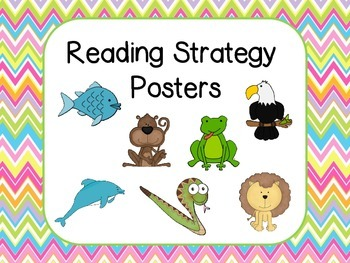 Reading Strategies Posters -Bright Chevron