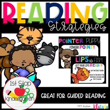 Reading Strategies Posters-Bright Edition