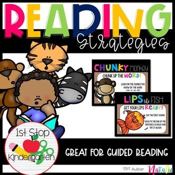 Reading Strategies Posters-Burlap Edition