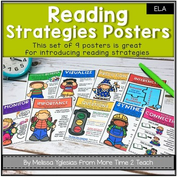 Reading Strategies Posters: Cute, Colorful, and COMPREHENSIVE