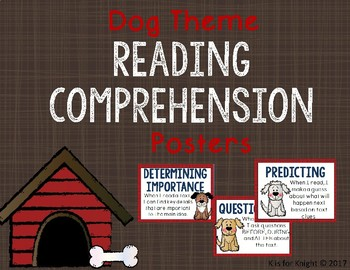 Reading Strategies Posters - Dog Theme
