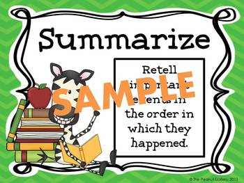 Reading Strategies Posters (Jungle/Zebra Theme)