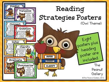 Reading Strategies Posters (Owl Theme)