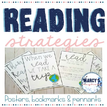 Reading Strategies Posters, Pennants & Bookmarks, 3rd grade,  4th & 5th graders
