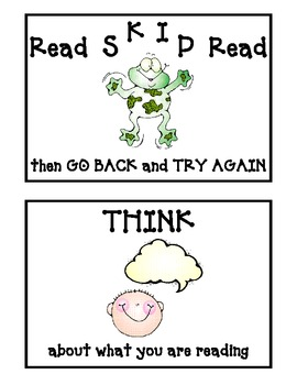 Reading Strategies Posters - Simple and Direct