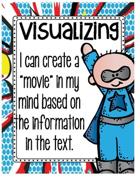 Reading Strategies Posters Superhero Theme
