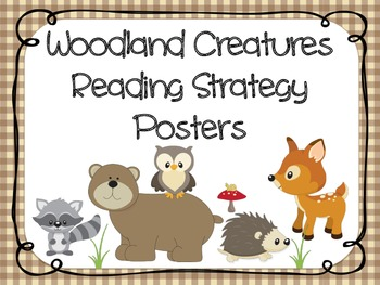 Reading Strategies Posters - Camping / Forest / Woodland Theme {RF.K.3}
