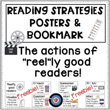 Reading Strategies: Posters and Bookmark Movie Themed