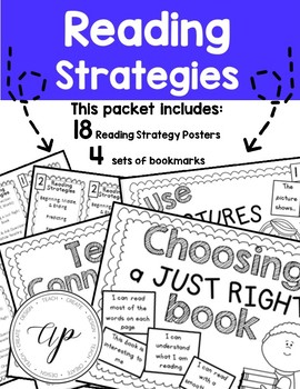 Reading Strategies Posters and Bookmarks