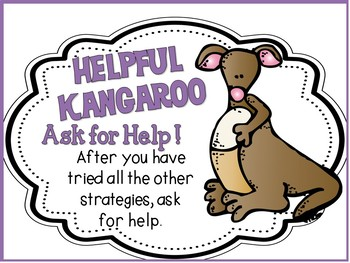 Reading Strategies Posters and More - Forest Theme Orange and Purple