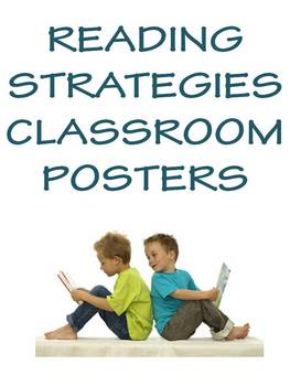 Reading Strategies Posters for Elementary & Middle School Classrooms