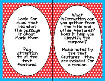 Reading Comprehension Strategy Posters * 3 posters/strategy, Build Good Readers!