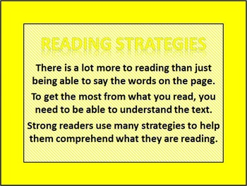 Reading Strategies PowerPoint & Graphic Organizers