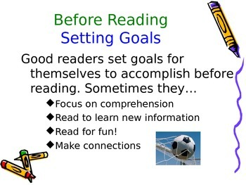 Reading Strategies Powerpoint (Predicting, Visualizing, Connections)