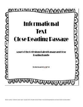 Reading Strategies Practice: Open Ended questions