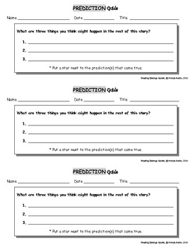 Reading Strategies - Prediction Guide
