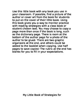 Reading Strategies Printable Book