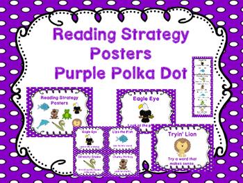 Reading Strategies - Purple Polka Dot