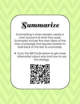 Reading Strategies QR Codes