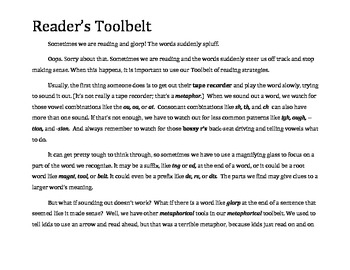 Reading Strategies Reader's Toolbelt
