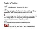 Reading Strategies Reader's Toolbelt