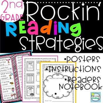 Reading Strategies Unit 2nd Grade with Anchor Charts and Lessons