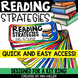 Reading Strategies Reference Guides for a Key Ring