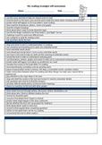Reading Strategies Self-Assessment Checklist