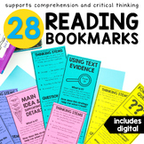 Reading Bookmarks With Comprehension Question Stems