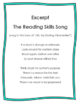 Reading Skills and Strategies Songs