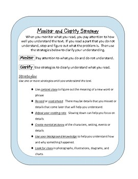 Reading Strategies -Student Resource