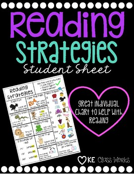 Reading Strategies Student Sheet