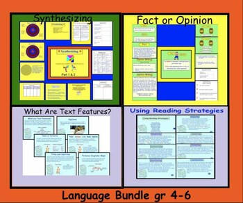 Reading Strategies, Synthesizing, Fact/Opinion, Text Features Smartboard Bundle