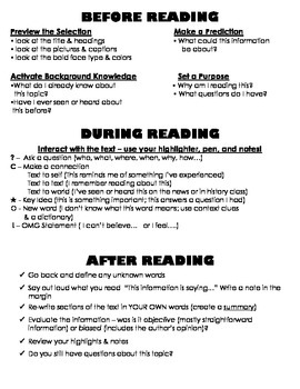 Reading Strategies Table Topper