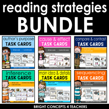 Reading Strategies Task Card BUNDLE *Over 275 Cards Included*
